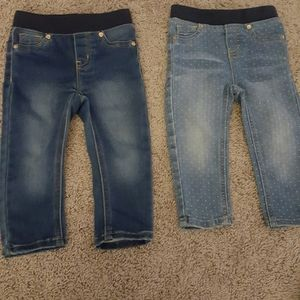 Cat and Jack jeans size 18m